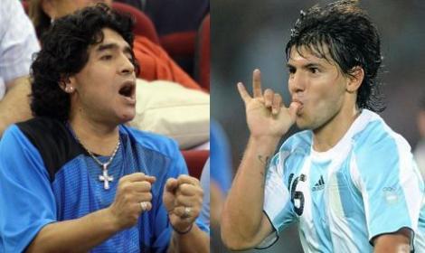 Maradona ed Aguero