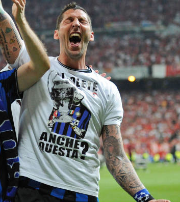 Materazzi finale  Champions League Madrid 2010