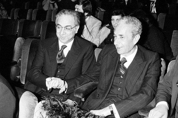 Francesco Cossiga ed Aldo Moro