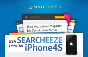 usa Searcheeze e vinci un IPhone4s
