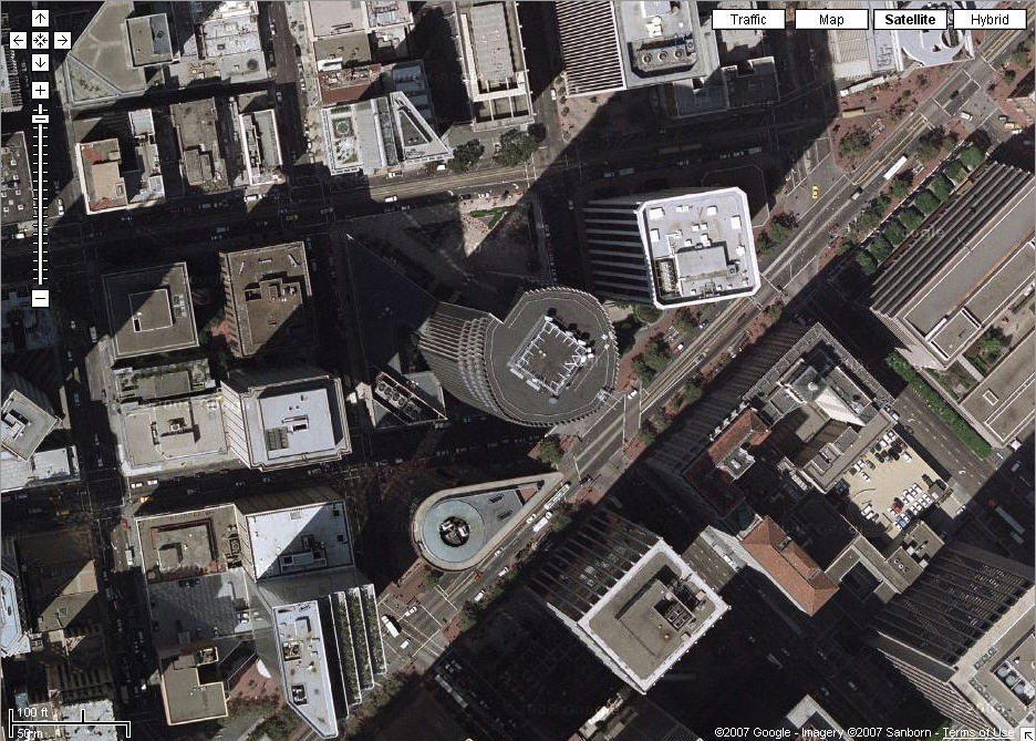 Google Maps: San Francisco satellite